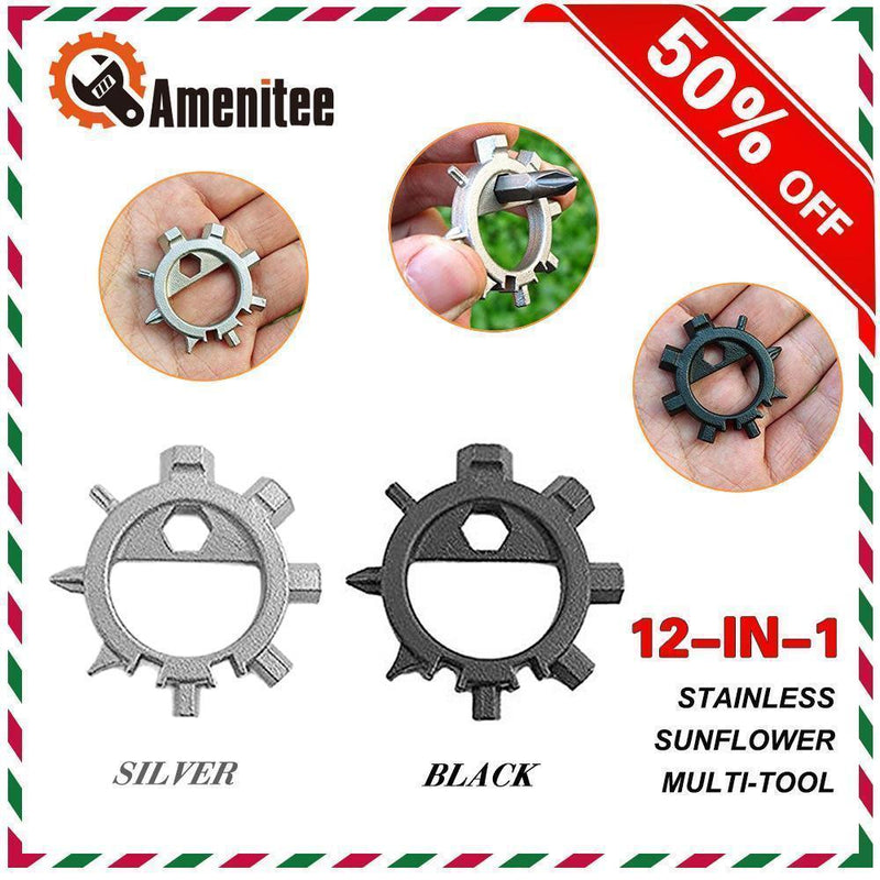 Amenitee 12-in-1 Gear Stainless Steel Sunflower Multi-tool MULTITOOLS smartsaker