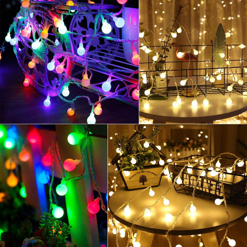 100 LED Globe Ball String Lights HOME DECORATIVE LAMPS Smart saker