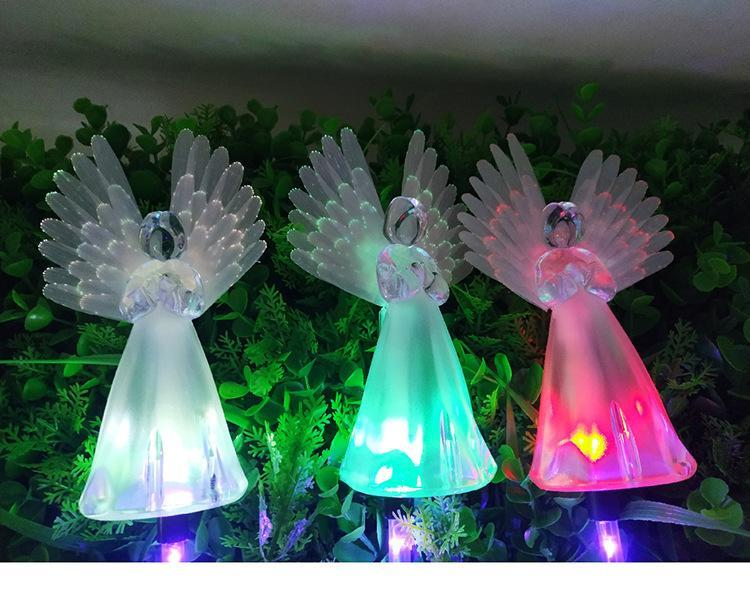 Solar-Powered LED Angel Light OUTDOOR LIGHTS Smart saker