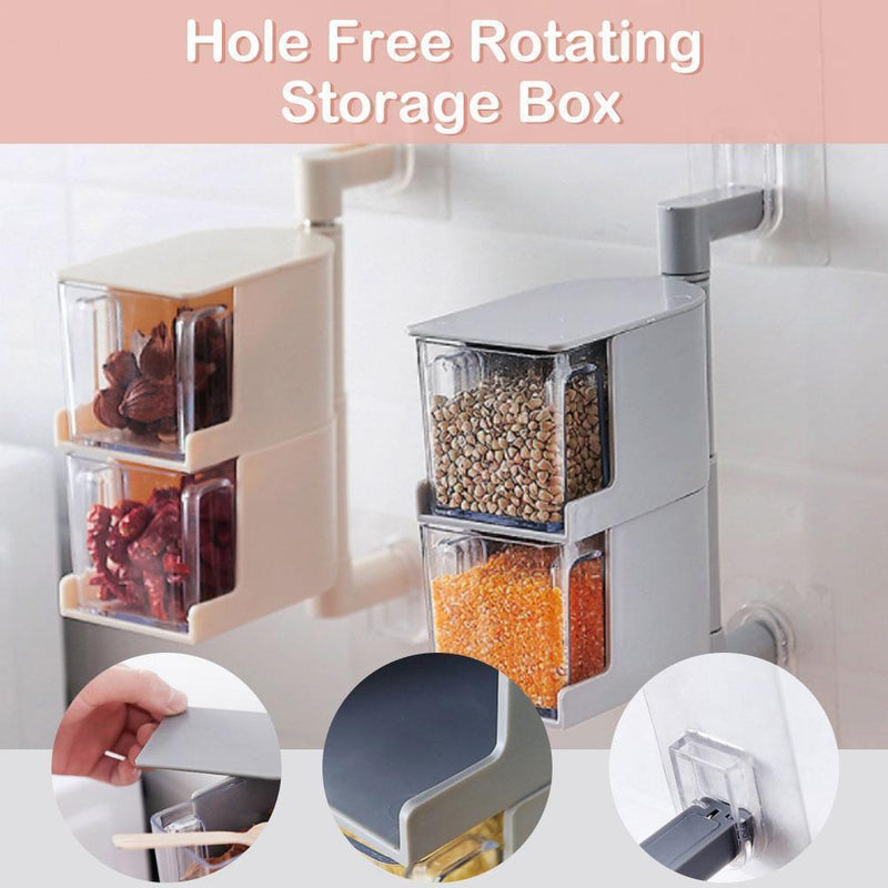 Hole Free Rotating Storage Box KITCHEN TOOLS smartsaker