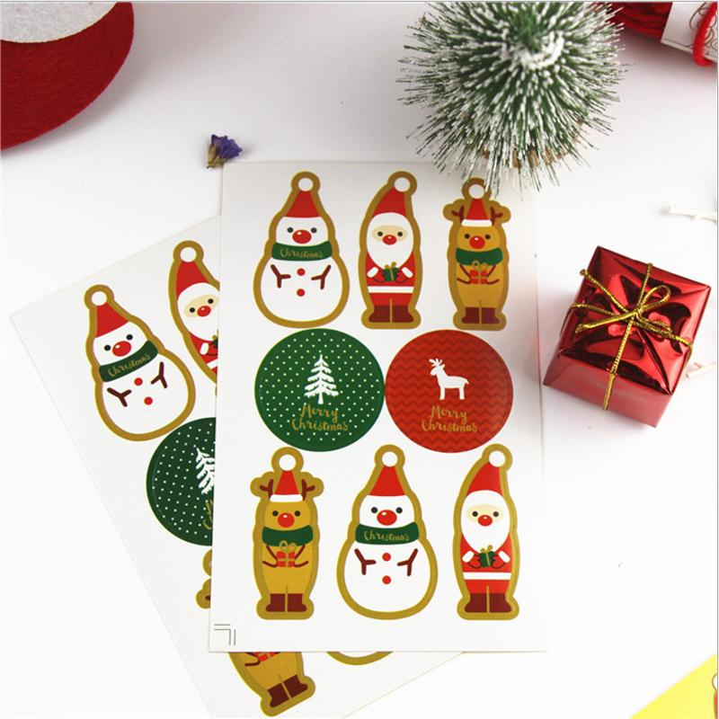 Christmas Gift Wrapping & Decoration Stickers OTHER LIFE TOOLS Smart saker TYPE9(800pcs)