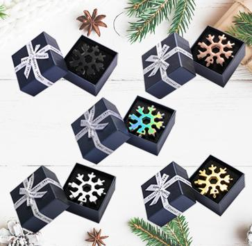 Saker® 18-in-1 Snowflake Multi-Tool MULTITOOLS smartsaker gift packing 1*black+1*silver+1*golden+1*rose+1*Rainbow Color