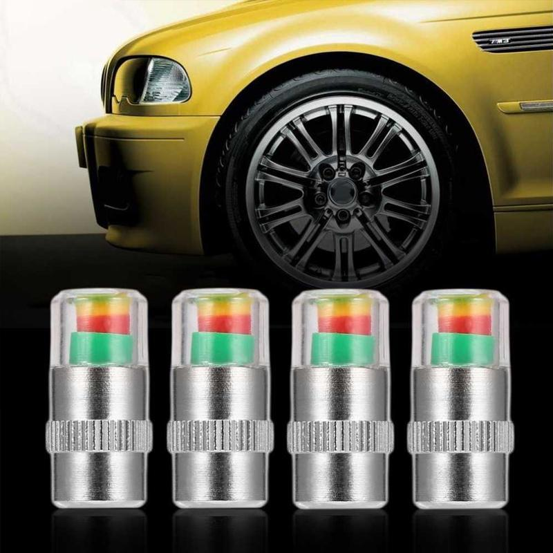 DOMOM Tire Pressure Indicator Valve Stem Caps CAR PRODUCTS AND TOOLS Smart saker
