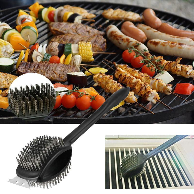 Barbecue Grill Brush with Scraper OUTDOOR BARBECUE smartsaker