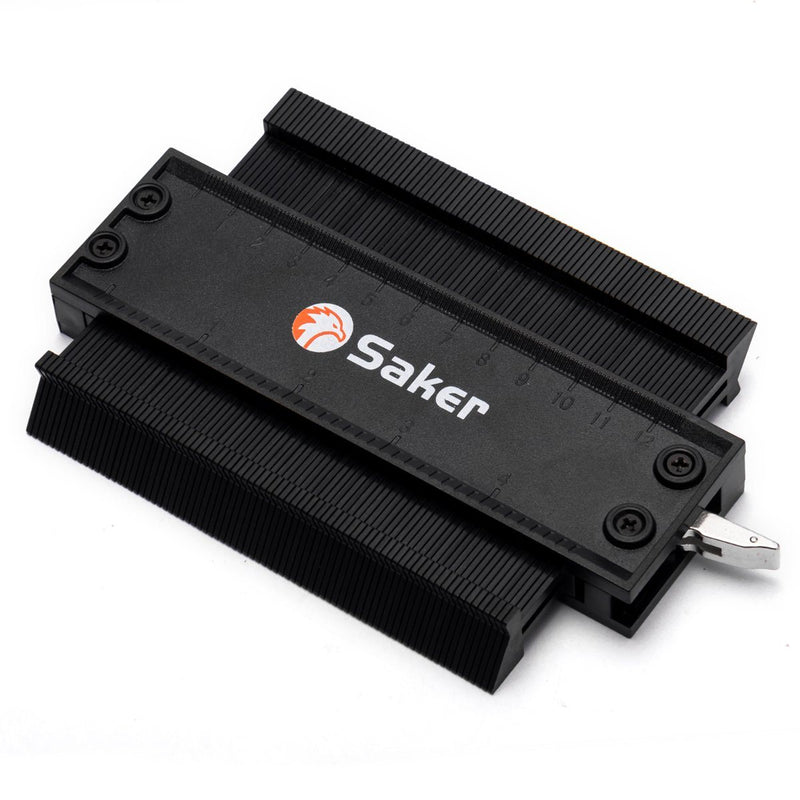 Saker® Contour Duplication Gauge With Lock (Black) TEST & MEASURE smartsaker 5 INCH/120MM BUY 1