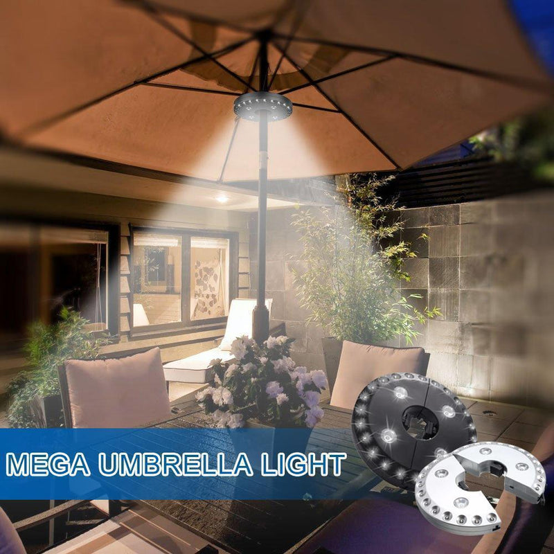 Super Bright Patio LED Umbrella Light Outdoor Lights smartsaker