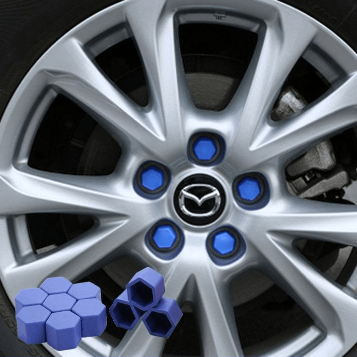 Car wheels screw protection cap, 20 PCs CAR PRODUCTS AND TOOLS smartsaker Blue 0.67in