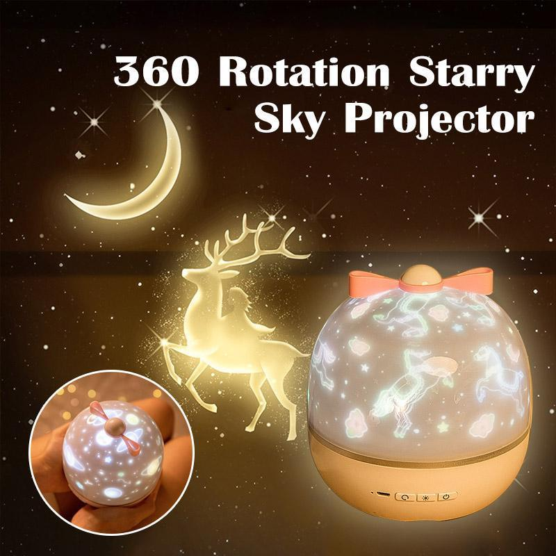 360 Rotation Starry Sky Projector HOME DECORATIVE LAMPS Smart saker