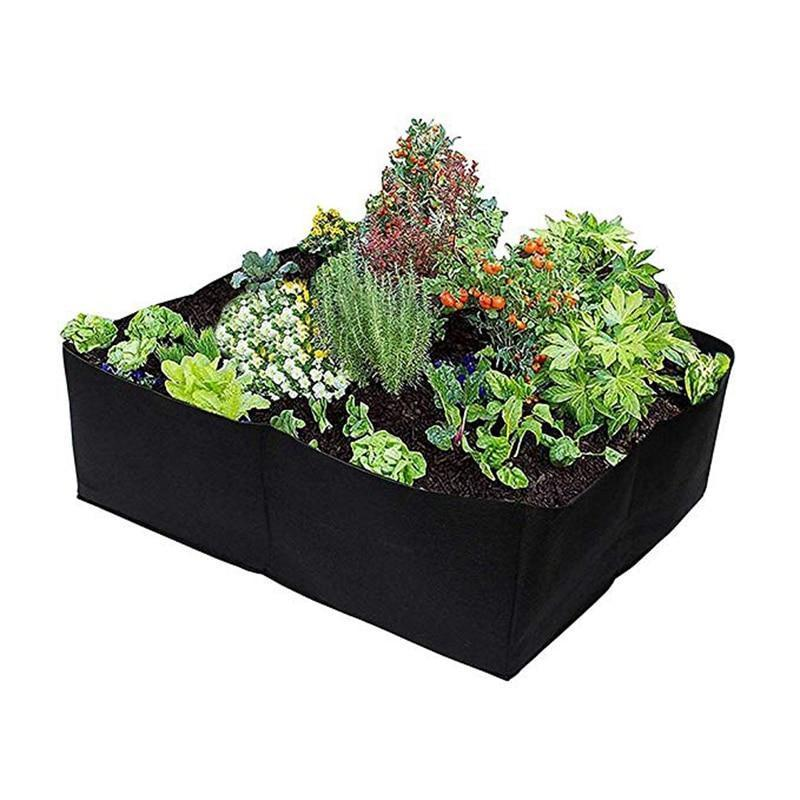 Divided Fabric Raised Bed RAISED GARDEN BED Smart saker 4 Grids