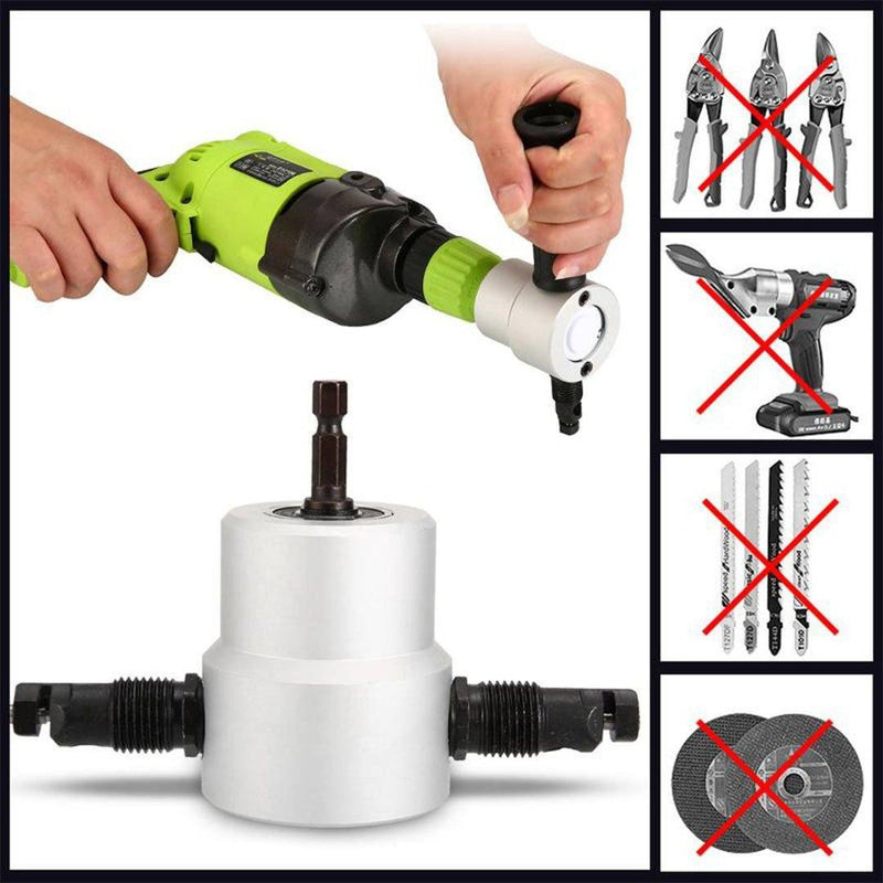DOMOM Zipbite - Nibbler Cutter Drill Attachment Double Head Metal Sheet THE CORDLESS smartsaker