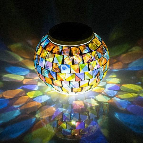 Color Changing Solar Mosaic Decor Light HOME DECORATIVE LAMPS Smart saker