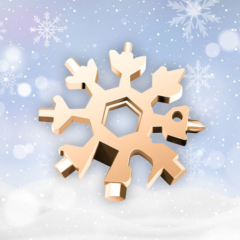 Amenitee 18-in-1 snowflakes multi-tool MULTITOOLS smartsaker golden