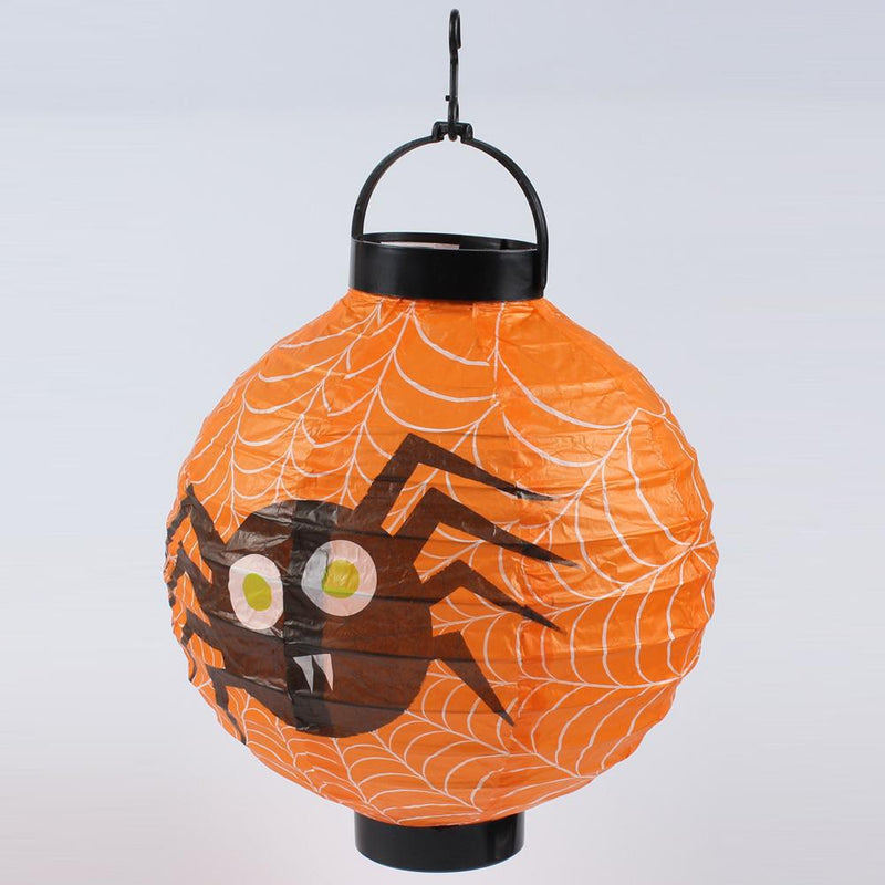 Halloween Hanging Paper Lanterns 6Pcs HOME DECORATIVE LAMPS Smart saker Yellow Spider