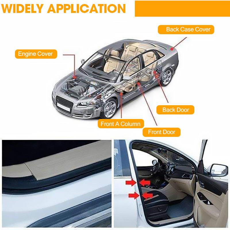 Universal Rubber Car Auto Door Seal Weather Strip CAR PRODUCTS AND TOOLS Smart saker
