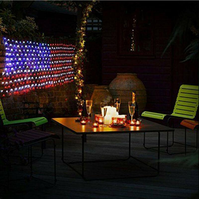 American Flag 420 Led String Lights-Large Usa Flag Outdoor Lights OUTDOOR LIGHTS Smart saker