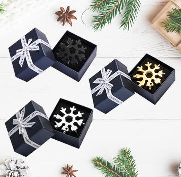 Saker® 18-in-1 Snowflake Multi-Tool MULTITOOLS smartsaker gift packing 1*black + 1*silver+1*golden