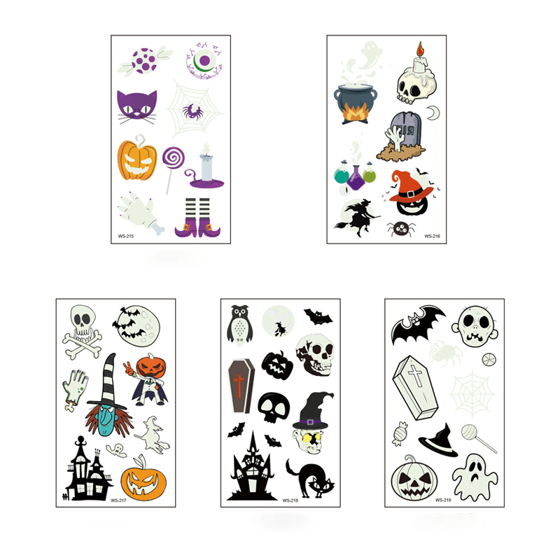 Luminous Halloween Tattoo Sticker OTHER LIFE TOOLS Smart saker Halloween Set 1