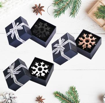Saker® 18-in-1 Snowflake Multi-Tool MULTITOOLS smartsaker gift packing 1*black + 1*silver+1*rose