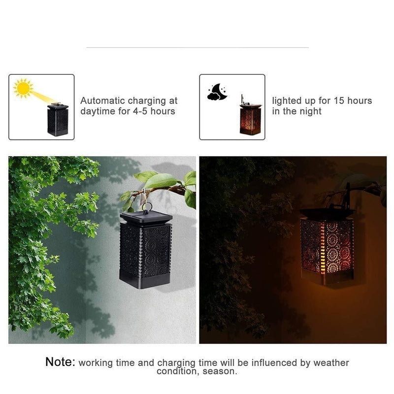 Solar Powered Dancing Flame Light OUTDOOR LIGHTS Smart saker