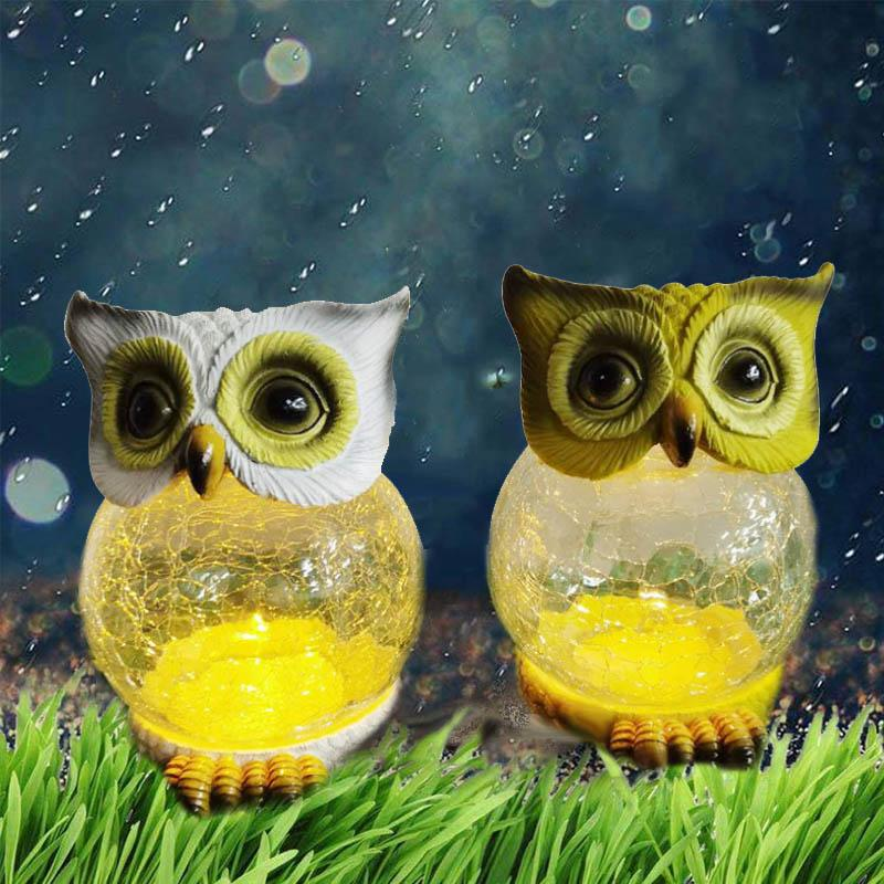 Solar Powered Owl Lawn Lamp OUTDOOR LIGHTS Smart saker
