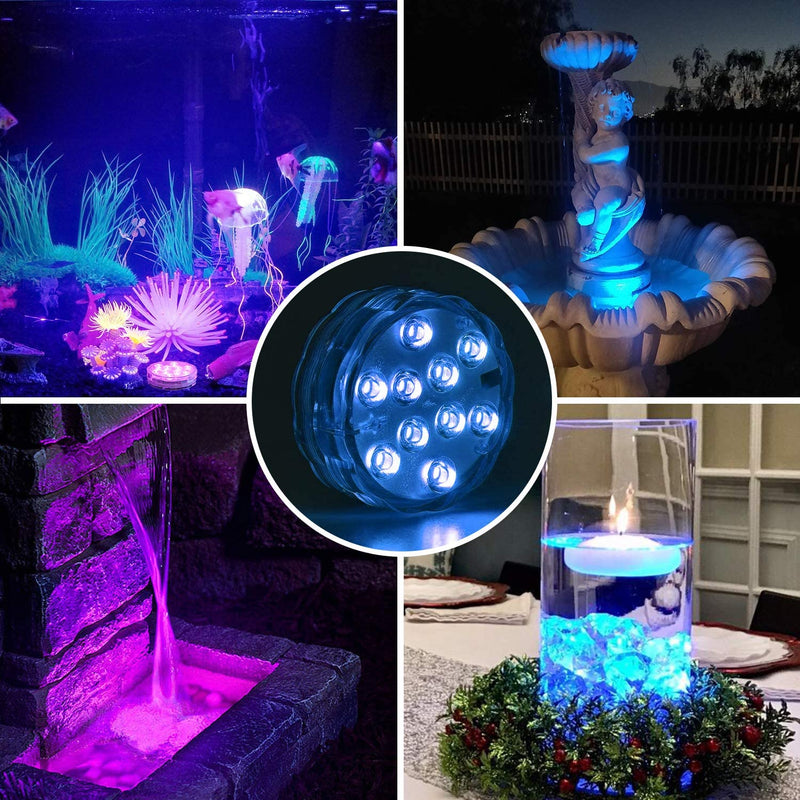 16 Colors Submersible Led Pool Lights HOME DECORATIVE LAMPS Smart saker