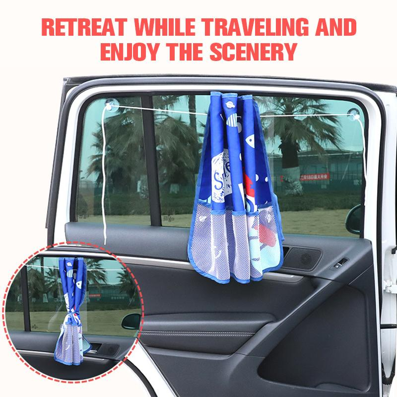 Cartoon car window curtain CAR PRODUCTS AND TOOLS Smart saker