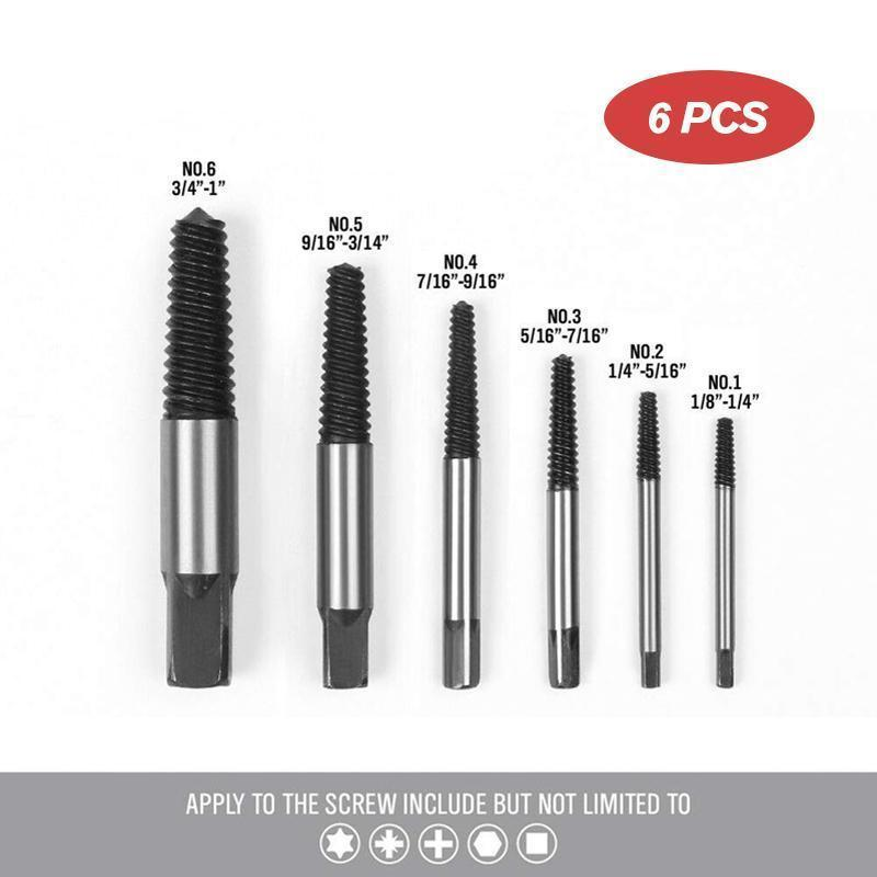 Screw Extractor Set (5 PCs/ 6 PCs/ 8 PCs) DRILLS & DRIVERS Smart saker