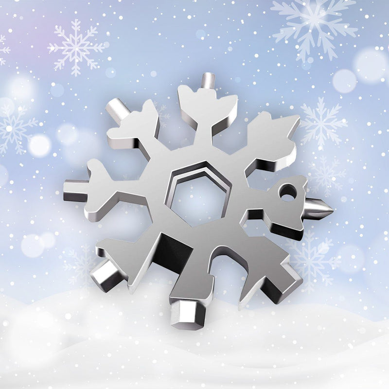 Copy of 2020 Saker 18-in-1 Snowflake Multi-Tool MULTITOOLS smartsaker normal packing 1 * silver