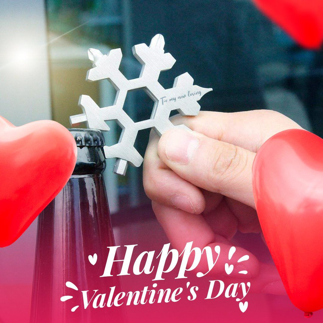 Valentine's Day limited of Saker ®18 in 1 Snowflake Multi-tool MULTITOOLS Smart saker