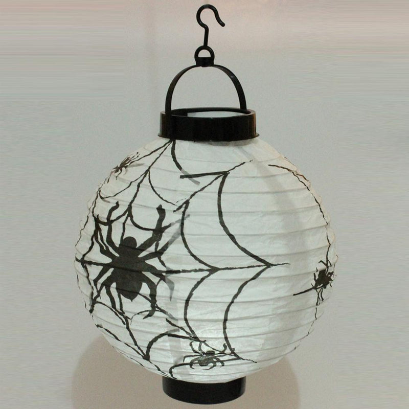 Halloween Hanging Paper Lanterns 6Pcs HOME DECORATIVE LAMPS Smart saker White Spider