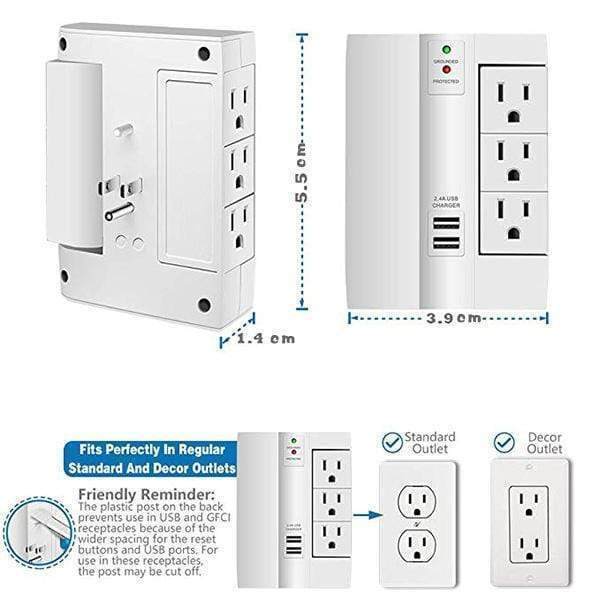 Multi-function Tray Wall Plug(US) ELECTRONIC PRODUCT TOOLS Smart saker