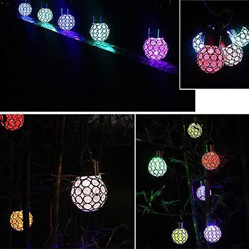 Solar-Powered Colorful LED Crystal Ball OUTDOOR LIGHTS smartsaker 1 Pc