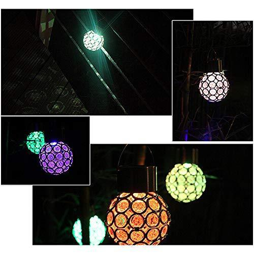 Solar-Powered Colorful LED Crystal Ball OUTDOOR LIGHTS smartsaker