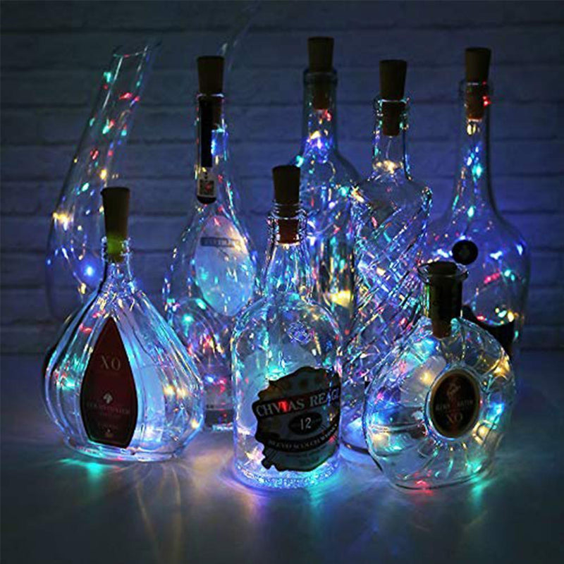 LED Wine Bottle Lights Cork Night Light DIY Decor Lift - 5/10PCS HOME DECORATIVE LAMPS Smart saker Colorful 5 PCS