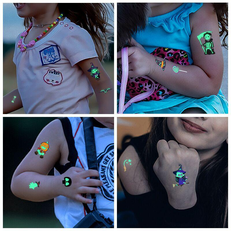 Luminous Halloween Tattoo Sticker OTHER LIFE TOOLS Smart saker