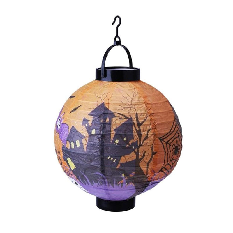 Halloween Hanging Paper Lanterns 6Pcs HOME DECORATIVE LAMPS Smart saker Castle