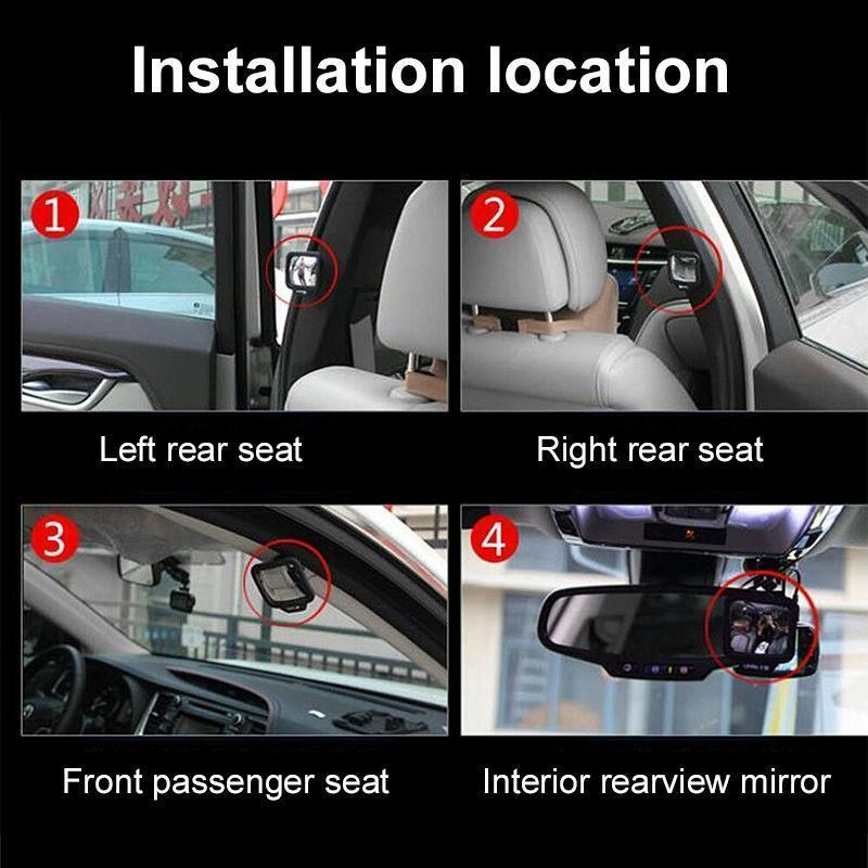 Car Back Seat Rear Mirror CAR PRODUCTS AND TOOLS smartsaker