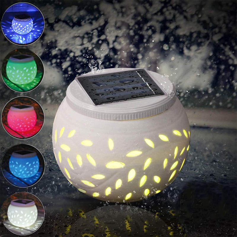 Solar-Powered LED Ceramic Night Lights HOME DECORATIVE LAMPS Smart saker