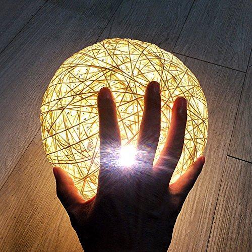 Rattan Ball Moon Light Lamp HOME DECORATIVE LAMPS smartsaker