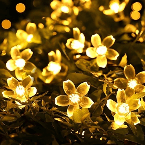 Solar-Powered String Lights (Blossom Flower) OUTDOOR LIGHTS Smart saker Warm White
