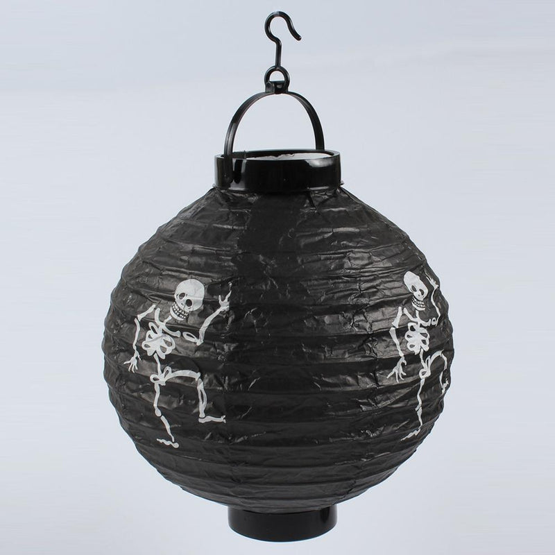 Halloween Hanging Paper Lanterns 6Pcs HOME DECORATIVE LAMPS Smart saker Skeleton