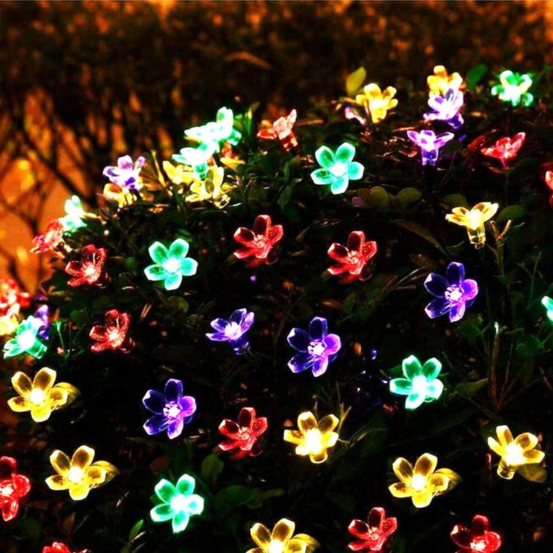 Solar-Powered String Lights (Blossom Flower) OUTDOOR LIGHTS Smart saker Multi color