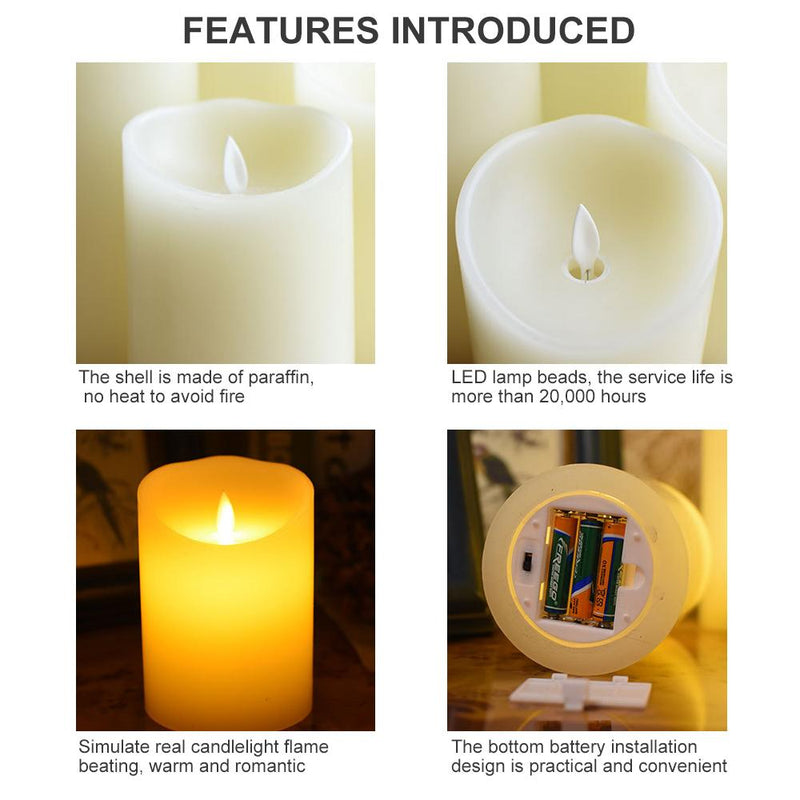 Realistic & Bright LED Tea Light Electric Fake Candle HOME DECORATIVE LAMPS Smart saker