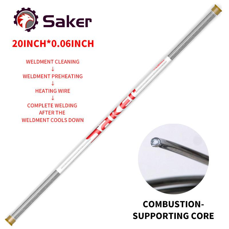 Saker Flux-Cored Welding Rods THE CORDED Smart saker 20inch(10PCS)