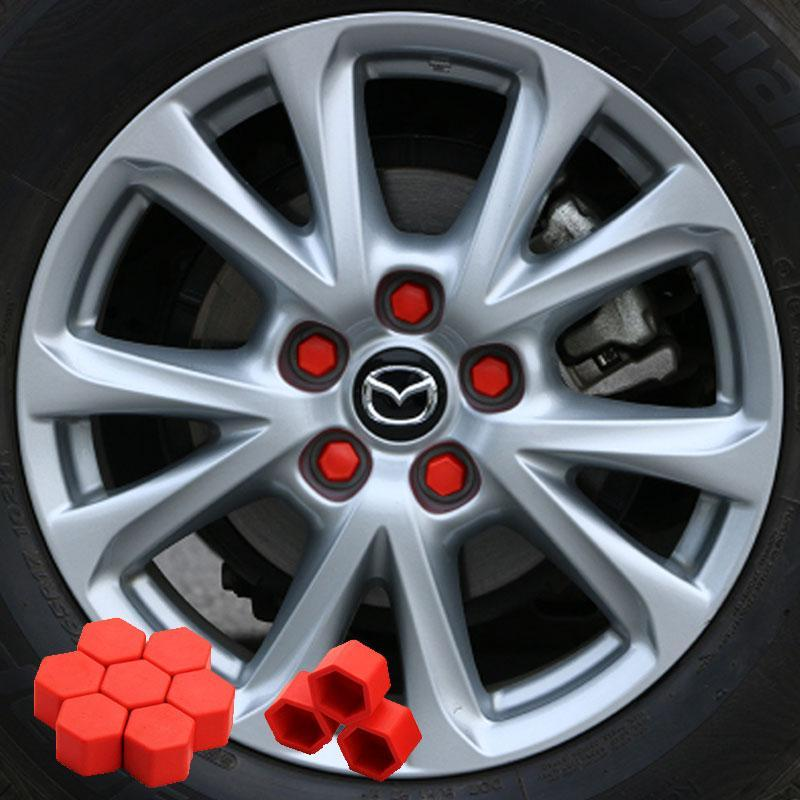 Car wheels screw protection cap, 20 PCs CAR PRODUCTS AND TOOLS smartsaker Red 0.67in