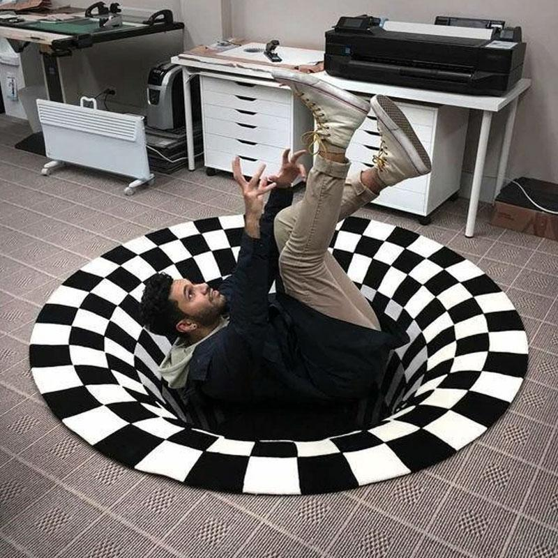 Vortex Illusion Rug OTHER LIFE TOOLS Smart saker Round 24in