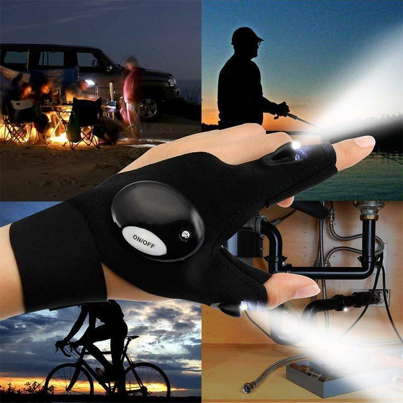 LED Gloves with Waterproof Lights Smart saker