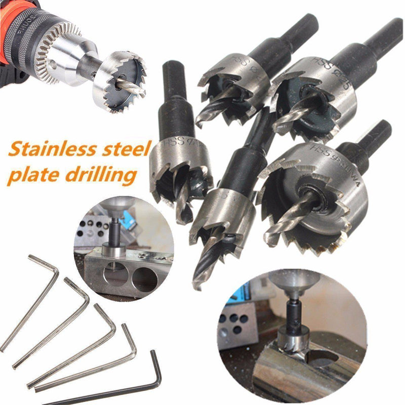 Domom 16-30MM HSS Drill Bit Hole Saw Set DRILLS & DRIVERS smartsaker
