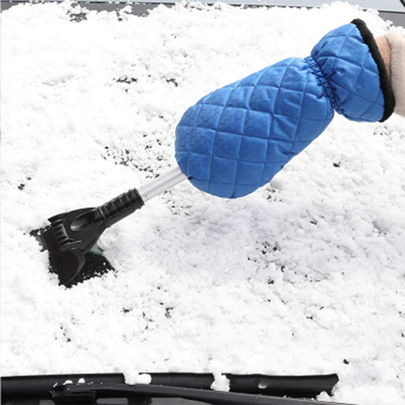 Saker Adjustable Car Ice Scraper With Glove CAR PRODUCTS AND TOOLS Smart saker blue 1 pack