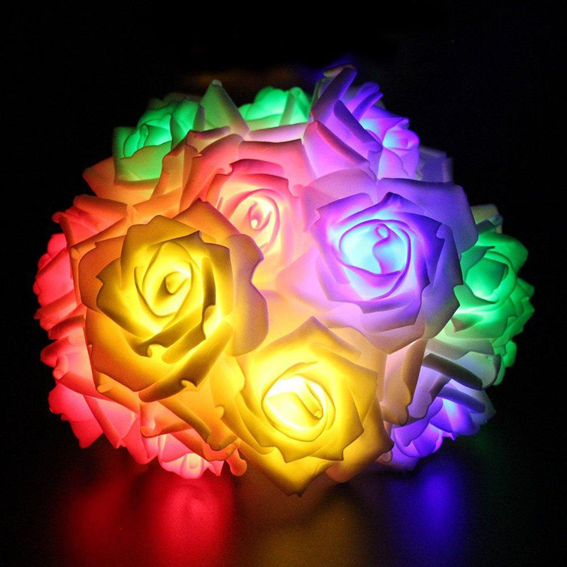 Flower Rose Fairy Light HOME DECORATIVE LAMPS smartsaker Multi-Color 20 LED
